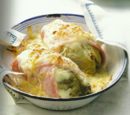Witlof met ham uit de oven