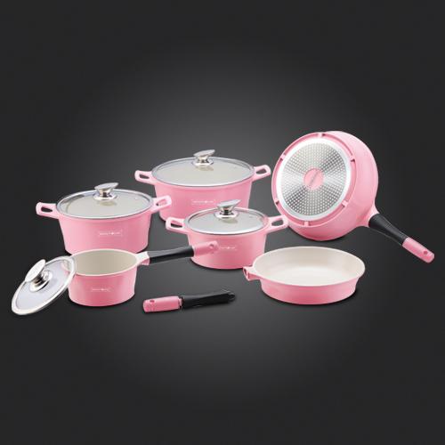 roze pannenset blck