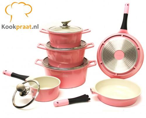 win actie roze pannenset kookpraat