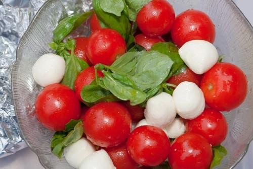 tomaat en feta salade