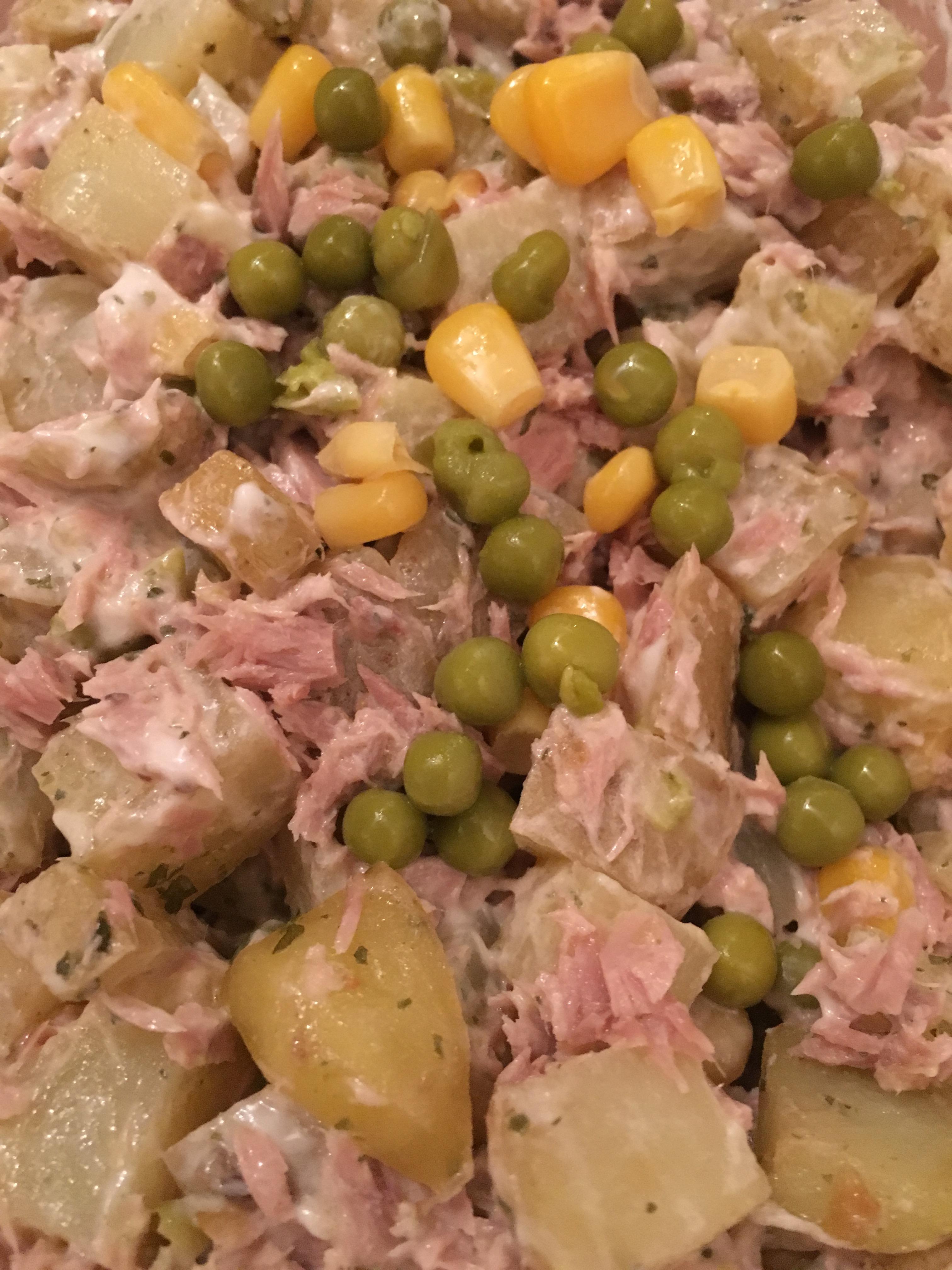 Luxe aardappel salade met groenten