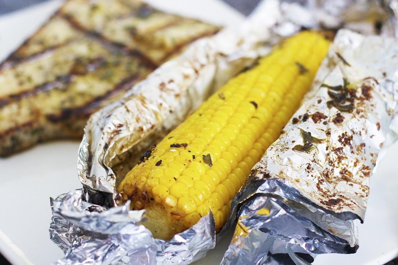 Maïs op de barbecue