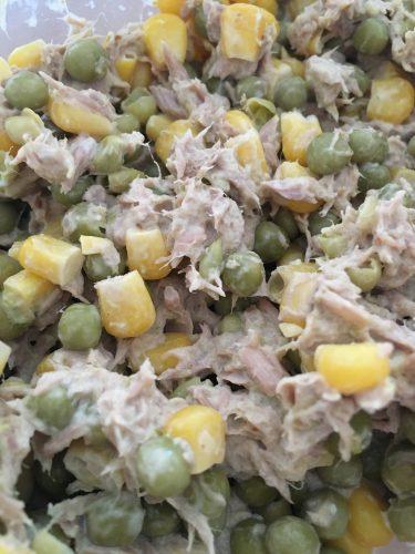 Tonijn salade met groenten