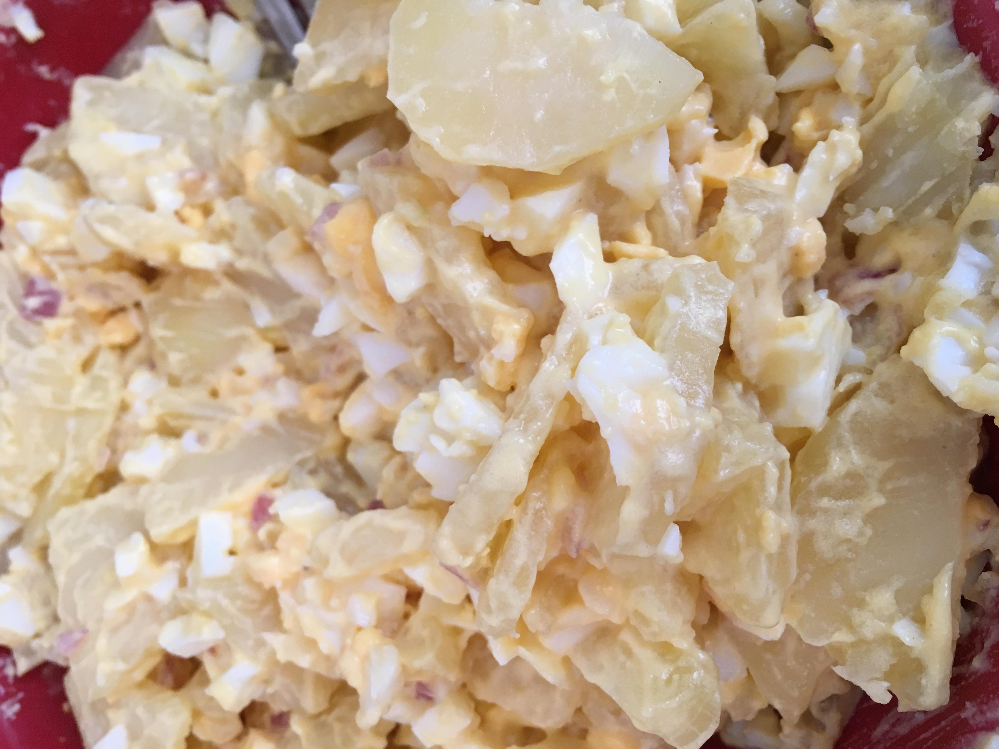 aardappel salade met ei en sjalot