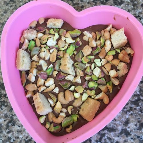 Chocolate bark chocolade hart