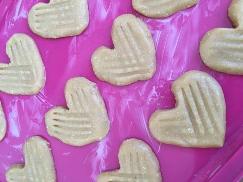 Pindakaas koekjes hart